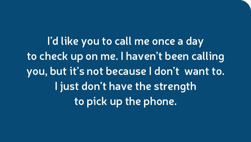 I'd like you to call me